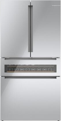 Bosch 800 Series B36CL81ENG French Door Refrigerator Stainless Steel, Main Image