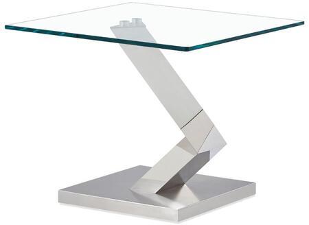 Global Furniture USA T987 T987E End Table Silver, Main Image