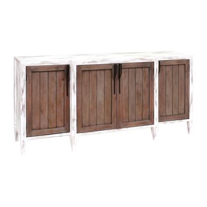 17290 Wilder Credenza  in Front Porch White  Weathered  Tuscan  Weathered