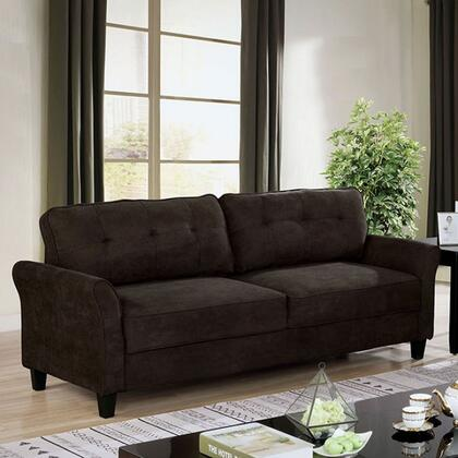 Furniture of America Alissa CM6213BRSF Stationary Sofa Brown, cm6213br sf 1