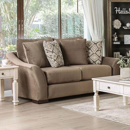 Furniture of America Oacoma SM9114LV Loveseat Brown, sm9114 lv 1