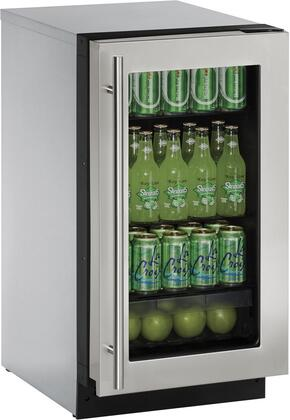 U-Line 2000 U2218RGLS00B Compact Refrigerator Stainless Steel, Main Image