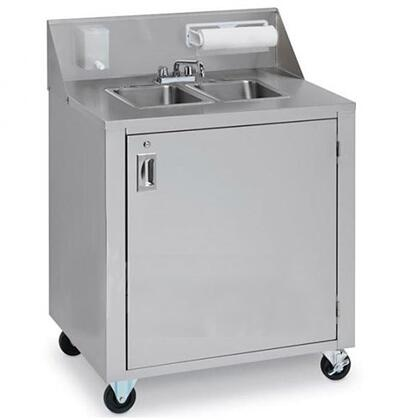 Crown Verity CVPHS2C Commercial Hand Sink Stainless Steel, CVPHS2C Side View