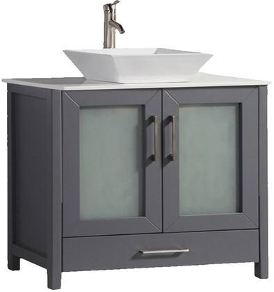 Jordan Collection MTD-1136G 36″ Single Sink Bathroom Vanity Set in