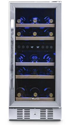 AWR-290DB 15″ Dual Zone Wine Cooler with 29 Bottle Capacity  Digital Thermostat  Lock  Triple Tempered Anti-UV Glass Door  in Stainless