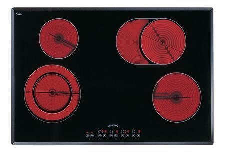 Smeg S2772TCU Electric Cooktop Black, Main Image