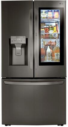 """LRFVC2406D 36"""" Smart Counter Depth French Door Refrigerator with 24 cu. ft. Capacity Craft Ice Maker InstaView Door-in-Door Tall Ice and Water"""