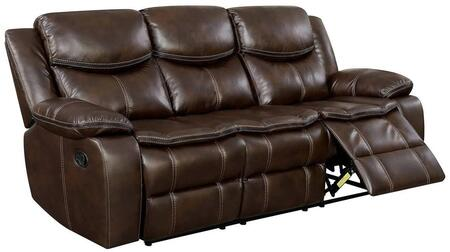 Furniture of America Pollux CM6981BRSF Motion Sofa Brown, Main Image