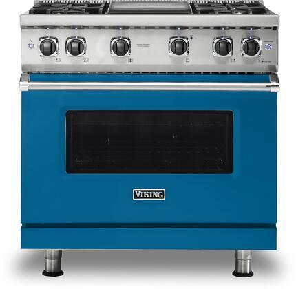 Viking 5 Series VGR5364GAB Freestanding Gas Range Blue, VGR5364GAB Gas Range
