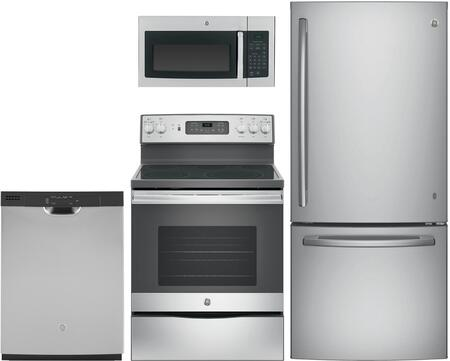 GE  1051360 Kitchen Appliance Package Stainless Steel, main image