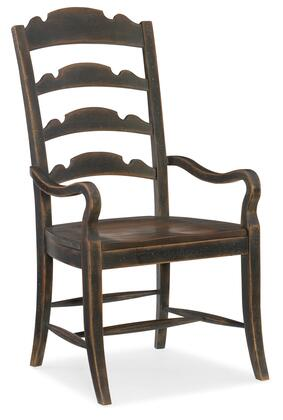 Hooker Furniture Hill Country 596075300BLK Dining Room Chair, Silo Image