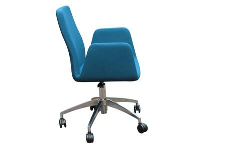 Astor 200-BT-AST-CUZ02-AOB Office Chair with Turquoise Wool – Camira