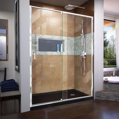 DreamLine  SHDR2260720001 Shower Door , Flex SD RS75 60inch 88B 01 R
