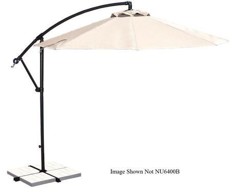 Blue Wave NU6400B Outdoor Umbrella Beige, Image of Open Canopy