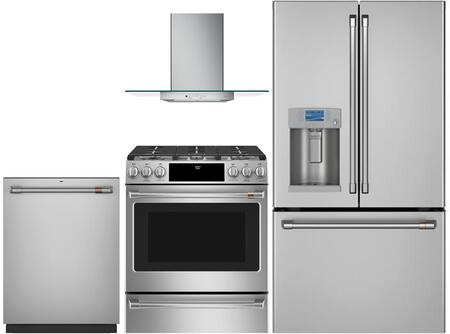 Cafe  1067752 Kitchen Appliance Package Stainless Steel, main image