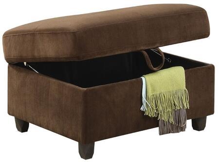 Acme Furniture Belville 52703 Living Room Ottoman Brown, Ottoman