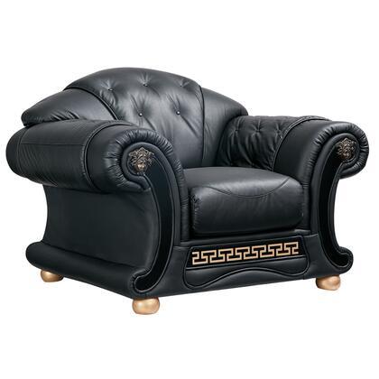ESF Apolo APOLO1BLACK Living Room Chair Black, APOLO1BLACK