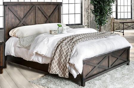 Furniture of America Bianca CM7734BED Bed Brown, 1