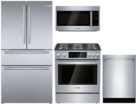 Bosch 800 Series 1333077 Kitchen Appliance Package Stainless Steel, Main image