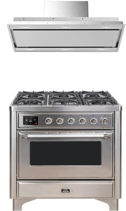 Ilve Majestic II 1150536 Kitchen Appliance Package Stainless Steel, main image