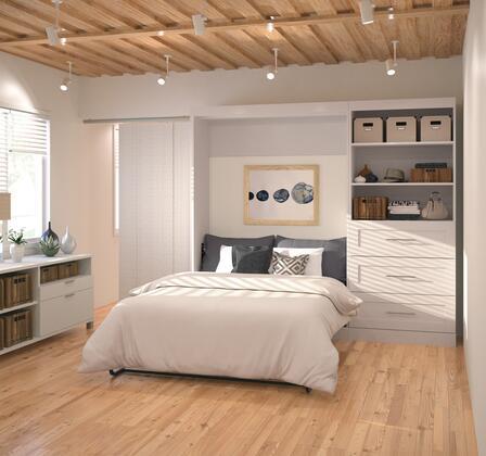 Bestar Furniture Pur Series 2689117 Bed White, Image 1