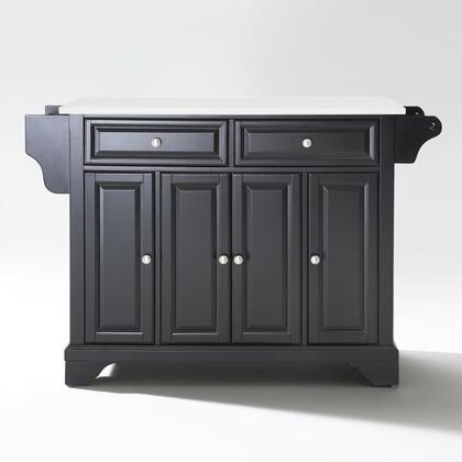 Lafayette Collection KF30005BBK Granite Top Island/Cart in Black