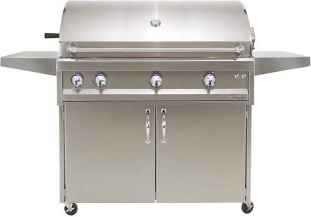 ARTP-42CNG 42″ Professional Series Natural Gas Freestanding Grill with Three 20 000 BTU Burners  Two Position Warming Racks  Built-In Halogen Light