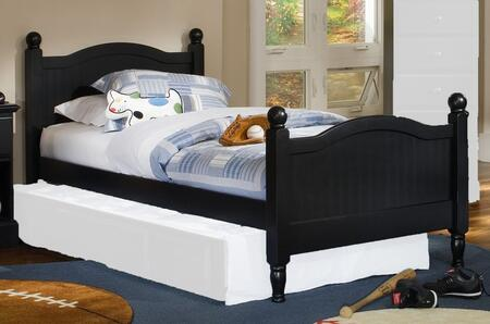 Carolina Furniture Midnight 4379303439300 Bed Black, Main Image