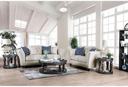 Furniture of America Porth SM2667SFSET Living Room Set Beige, Living Room Set