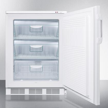 White Summit VT65M7BI Upright Freezer