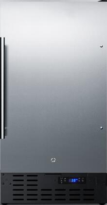 Summit FF1843BCSS Compact Refrigerator Stainless Steel, Main image