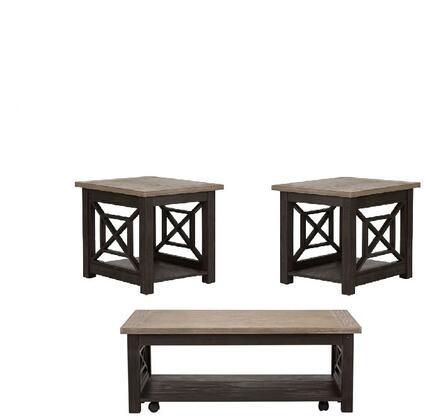 Liberty Furniture Heatherbrook 422OT3PCS Living Room Table Set Black, Main view