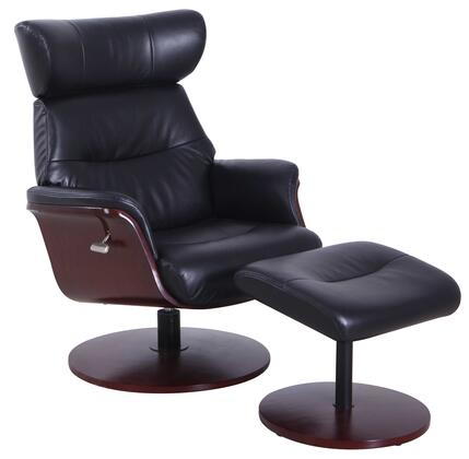 Sennet Collection SENNET729493 Recliner and Ottoman with 360 Degree Swivel  Cable Release Recline Mechanism  Memory Foam Seating  Height Adjustable