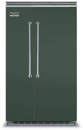 Viking 5 Series VCSB5483BF Side-By-Side Refrigerator Green, VCSB5483BF Side-by-Side Refrigerator