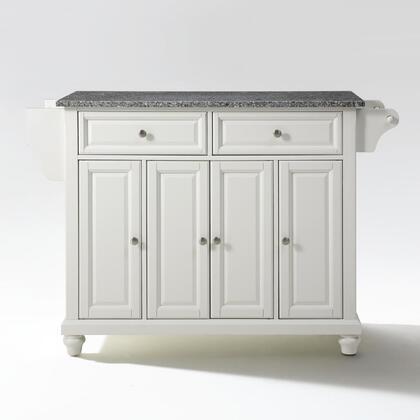 Cambridge Collection KF30003DWH Granite Top Island/Cart in White