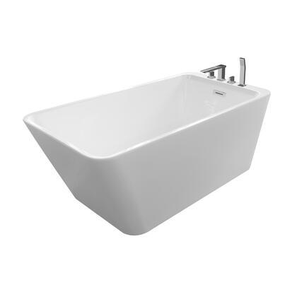 Valley Acrylic Affordable Luxury JUSTINIAN67 Bath Tub White, Main Image
