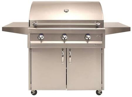 AAEP-36C-NG 36″ American Eagle Series Natural Gas Freestanding Grill with Three 20 000 BTU Stainless Steel U-Burners  Electronic Ignition  Two