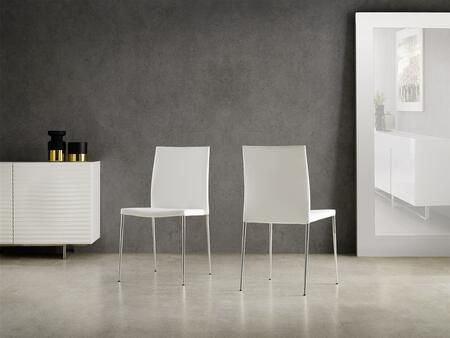 Casabianca Aldo TC181W Dining Room Chair White, Dining Chair