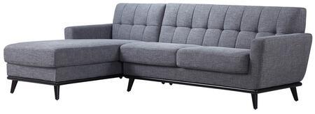 VIG Furniture Divani Casa Corsair VGYIT380B Sectional Sofa Gray, Main Image