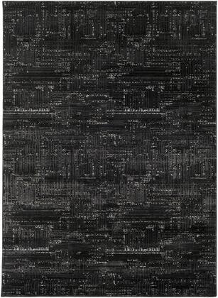 Amadeo ADO-1016 5'3″ x 7'3″ Rectangle Modern Rugs in Black  Light Gray  White  Medium