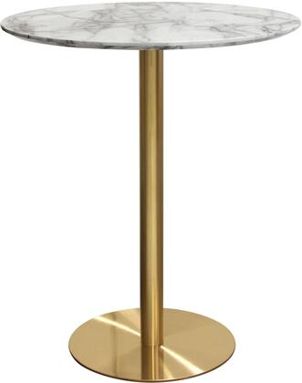 """STELLABTMAGD_Stella_36""""_Round_Bar_Height_Table_with_Faux_Marble_Top_and_Brushed_Gold_Metal"""