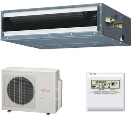 Fujitsu 1.5 Ton 18000 BTU Cooling Heating Ductless Slim Compact Concealed Duct Air Conditioning System 19.7 SEER Energy EFFICIENT