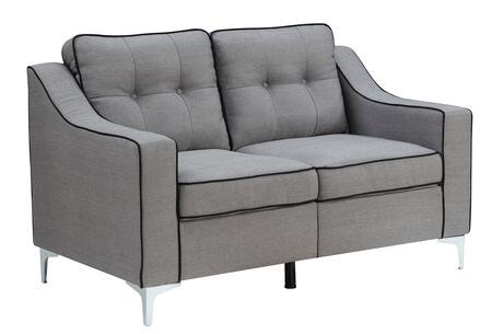 Furniture of America Glenda CM6850GYLV Loveseat Gray, Main Image