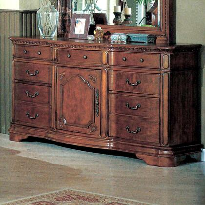 Myco Furniture Hampton HM5707DR Dresser Dark wood, 1