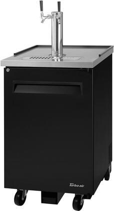 Turbo Air TBD1SBN6 Commercial Beer Dispenser Black, TBD1SBN6 Angled View