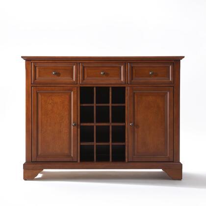 Crosley Furniture Lafayette KF42001BCH Dining Room Buffet Brown, KF42001BCH W1