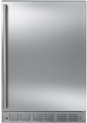 Monogram  ZIBS240NSS Compact Refrigerator Stainless Steel, ZIBS240NSS Shown with Statement Handle