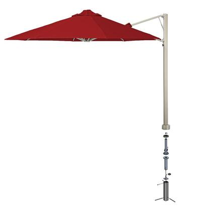 Shadowspec SU6 Series KITP6OCT35UNOGAREDA Outdoor Umbrella Red, KITP6SQ25UNOGAREDA