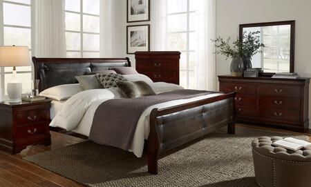 Global Furniture USA Marley MARLEYMQBSET Bedroom Set Brown, Main Image