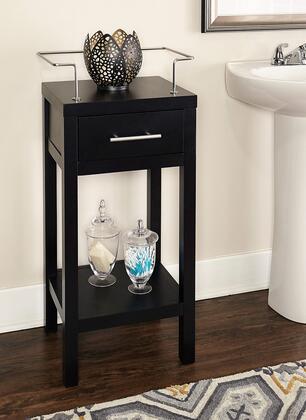 Linon Hoover BA006BLK01 Cabinet, BA006BLK01 HOOVER BLACK CABINET LIFESTYLE